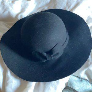 Roots Black Wool Floppy Hat